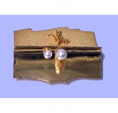 Walter Schluep Walter Schluep 18K Abstract Brooch Pin C 1970 - 480537