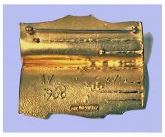 Walter Schluep Walter Schluep 18K Abstract Brooch Pin C 1970 - 480538