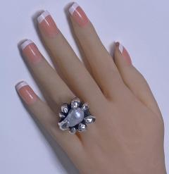 Walter Schluep Walter Schluep Sterling Silver Pearl Ring - 1905810