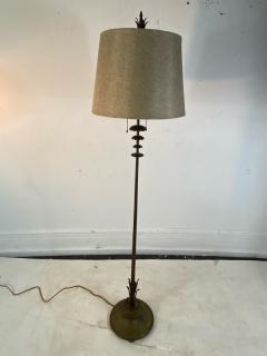 Walter Von Nessen AMERICAN ART DECO MODERNIST FLOWER FORM BRONZE FLOOR LAMP - 1951565
