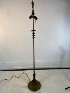 Walter Von Nessen AMERICAN ART DECO MODERNIST FLOWER FORM BRONZE FLOOR LAMP - 1951566
