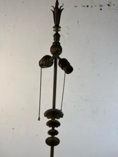 Walter Von Nessen AMERICAN ART DECO MODERNIST FLOWER FORM BRONZE FLOOR LAMP - 1951568