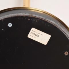 Walter Von Nessen NESSEN Task Floor Lamp in Brass Pharmacy Light Pivot Reading 1980s Bronx - 2083365