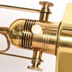Walter Von Nessen NESSEN Task Floor Lamp in Brass Pharmacy Light Pivot Reading 1980s Bronx - 2083366