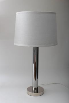 Walter Von Nessen Pair of Von Nessen Polished Chrome Table Lamps - 514059