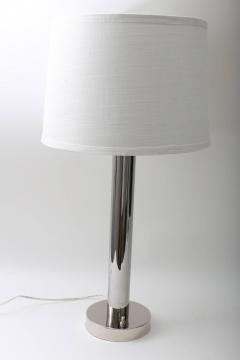 Walter Von Nessen Pair of Von Nessen Polished Chrome Table Lamps - 514060