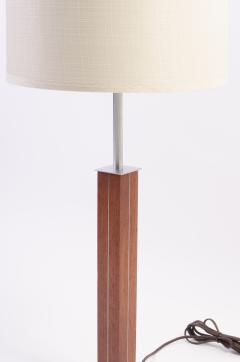 Walter Von Nessen Walnut and Chrome Lamp by Nessen Studios - 240225