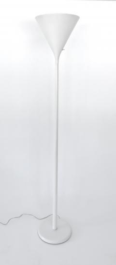 Walter Von Nessen Walter Von Nessen Lacquered White Torchiere Floor Lamp - 683354