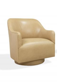 Ward Bennett Pair 1970s Ward Bennett Style Nappa Leather Club Chairs - 1892546