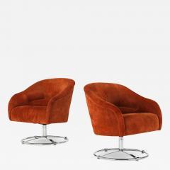 Ward Bennett Pair of Ward Bennett Lounge Chairs - 1430933