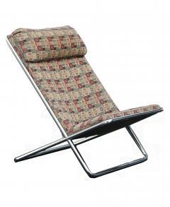 Ward Bennett Pair of Ward Bennett Scissor Pillow Low Profile Highback Chairs - 1755117