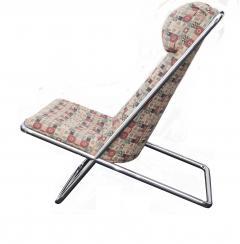 Ward Bennett Pair of Ward Bennett Scissor Pillow Low Profile Highback Chairs - 1755119
