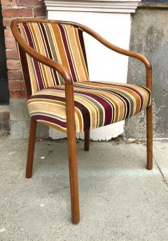 Ward Bennett Rare Ward Bennett Settee and Side Chair in Vintage Fabric - 2072435