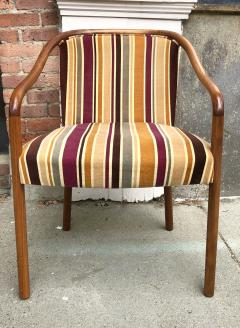 Ward Bennett Rare Ward Bennett Settee and Side Chair in Vintage Fabric - 2072436