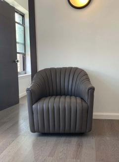 Ward Bennett Ward Bennett Channel Club Leather Chairs 1970s - 1750941