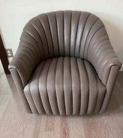 Ward Bennett Ward Bennett Channel Club Leather Chairs 1970s - 1750944
