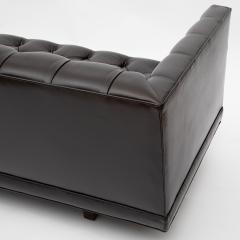 Ward Bennett Ward Bennett Elegant Tufted Leather Sofa 1970s Signed  - 1524836