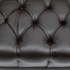 Ward Bennett Ward Bennett Elegant Tufted Leather Sofa 1970s Signed  - 1524837