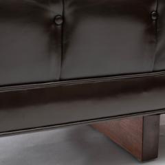 Ward Bennett Ward Bennett Elegant Tufted Leather Sofa 1970s Signed  - 1524838