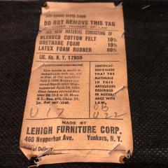 Ward Bennett Ward Bennett Elegant Tufted Leather Sofa 1970s Signed  - 1524842