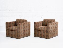 Ward Bennett Ward Bennett Lounge Chairs Bauhaus Fabric 1970 - 1792244