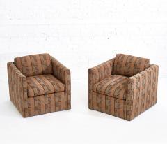 Ward Bennett Ward Bennett Lounge Chairs Bauhaus Fabric 1970 - 1792253