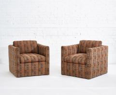 Ward Bennett Ward Bennett Lounge Chairs Bauhaus Fabric 1970 - 1792255