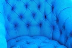 Ward Bennett Ward Bennett Tufted Club Chairs in Original Blue Upholstery 1970 - 1795241