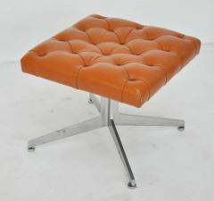 Ward Bennett Ward Bennett Tufted Leather Stool - 428669