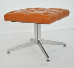Ward Bennett Ward Bennett Tufted Leather Stool - 428670