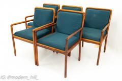 Ward Bennett for Brickel Associates Mid Century Armchairs Set of 5 - 1872502