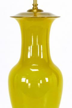 Warren Kessler Warren Kessler Ochre Yellow Vase Form Table Lamp   72632