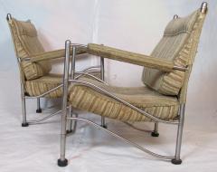 Warren McArthur Pair of Warren McArthur Stainless Steel Light Lounge Lounge Chair1934 35 - 780820