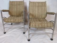 Warren McArthur Pair of Warren McArthur Stainless Steel Light Lounge Lounge Chair1934 35 - 780822