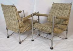 Warren McArthur Pair of Warren McArthur Stainless Steel Light Lounge Lounge Chair1934 35 - 780824