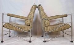 Warren McArthur Pair of Warren McArthur Stainless Steel Light Lounge Lounge Chair1934 35 - 780826