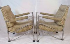Warren McArthur Pair of Warren McArthur Stainless Steel Light Lounge Lounge Chair1934 35 - 780827
