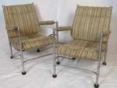 Warren McArthur Pair of Warren McArthur Stainless Steel Light Lounge Lounge Chair1934 35 - 780829