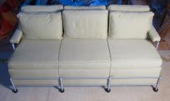 Warren McArthur Rare Slat Back Three Seat Warren McArthur Park Avenue Sofa 1933 1934 - 589322
