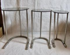 Warren McArthur Rare Warren McArthur Stainless Steel Nest of Tables 1934 35 - 611307