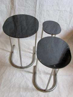 Warren McArthur Rare Warren McArthur Stainless Steel Nest of Tables 1934 35 - 611309