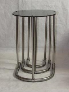 Warren McArthur Rare Warren McArthur Stainless Steel Nest of Tables 1934 35 - 612811