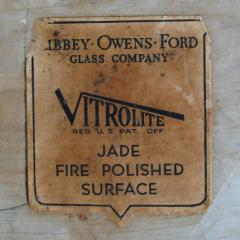 Warren McArthur Rare Warren McArthur Table with Original Jade Vitrolite Top - 181564