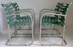 Warren McArthur Set of Four Warren McArthur Webbed Lounge Chairs circa 1938 - 569095