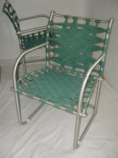 Warren McArthur Set of Four Warren McArthur Webbed Lounge Chairs circa 1938 - 569101