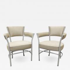 Warren McArthur Warren McArthur Pair of Lounge Chairs in Tubular Aluminum 1930s signed  - 1054687