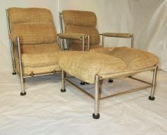 Warren McArthur Warren McArthur Pair of Stainless Steel Lounge Chairs and Ottoman Circa 1935 - 814794