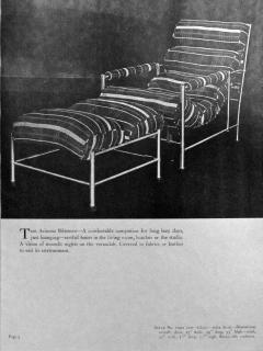 Warren McArthur Warren McArthur Pair of Stainless Steel Lounge Chairs and Ottoman Circa 1935 - 814836
