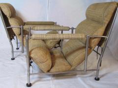 Warren McArthur Warren McArthur Pair of Stainless Steel Lounge Chairs and Ottoman Circa 1935 - 822205