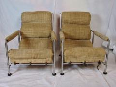 Warren McArthur Warren McArthur Pair of Stainless Steel Lounge Chairs and Ottoman Circa 1935 - 822208